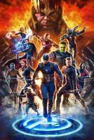 Avengers Endgame Art Poster Iron Man Thor Hulk Captain America - 11x17 13x19
