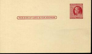 UX38c Mint 2c Franklin Postal Card Lake Shade B730 1