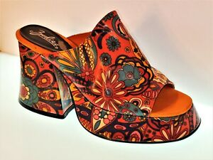 PETER MAX style 70's / 1960s SINGLE LEFT PLATFORM Wedge SHOE RARE GROOVY!