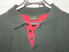 Vtg 2003 Jaguar Racing Men's Polo Shirt Green Short Sleeve Size Large~Very NICE