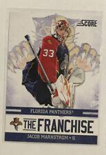 "Jacob Markstrom 2011-12 Score Insert ""The Franchise"" #13 - Vancouver Canucks"