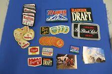 100+ Huge Lot Rainier Beer Jacket & Hat Patch Carling Schmidt Fishing Team Draft