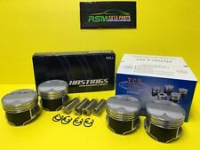 85MM YCP B20 B18 B16 High Compression Full Floating Pistons & Racing Rings Swap