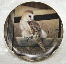 Solitary Sentinel-The Owls of North America-The Danbury Mint-No B3703-1994-Nwob