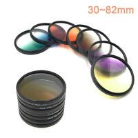 30 37 40.5 43 52 55 58 67 72 77 82mm Graduated Color Filter Camera lens Filter