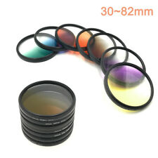 30 37 40.5 43 52 55 58 67 72 77 82mm Graduated Color Filter Camera lens Filter