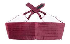 New Designer Maroon Red Handmade Silk Adjustable Tuxedo Tux Cummerbund MSRP $150