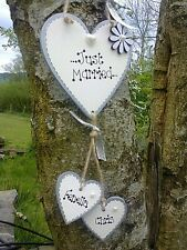 New Just Married Personalised hanging heart wedding, Mr & Mrs  gift plaque sign