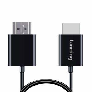 1m Lumsing HDMI Kabel Hochgeschwindigkeit HDMI auf HDMI M/M ultra dünn schwarz
