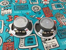 "2 New NOS Projected Sound 3""1/2 Inch 8 ohm 5 Watt Drive In Movie Speaker Cones"