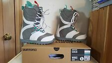 BURTON COCO NIB WMS 2015 Lace & Cinch White/Gray/Teal Snowboard Boots Size 5