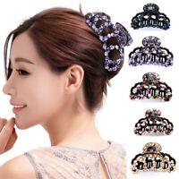 Elegant Crystal Rhinestone Hair Large Claws Clip Clamp Hairpin Headwear Acrylic