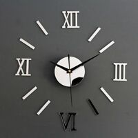 Horloge Murale-Silence-3D-Pendule-Montre-Art Deco-Salon-Maison-Home-Moderne