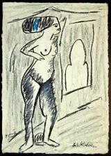 Ernst Ludwig  Kirchner Tänzerin Tanz Akt weiblich Nude stehend Gabriele Sauler