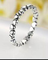 Love heart genuine sterling silver 925 ring