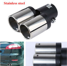 1x Durable Auto Car Styling Stainless Steel Exhaust Dual Pipe Y-Pipe Tail Throat