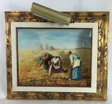 The Gleaners Jean Millet ORIGINAL SHADOWBOX Painting Work of Art VINTAGE Display