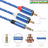 3.5mm Jack male (TRS 1/8 inch) to 2 Male RCA Stereo Analog Audio Adapter Cable