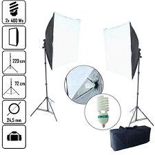 DynaSun KSB85 60x60cm 800W Kit éclairage Studio Trépied Ampoule Spirale Lumière