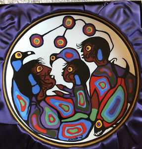 """Norval MORRISSEAU Collector PLATE """"Winter"""" Limited Edition 10"""" NEW Mint In Box"""