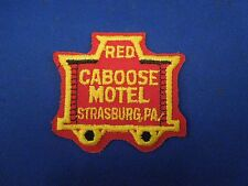 Vintage Red Caboose Motel Strasburg PA Advertising Embroidered Iron On Patch