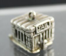 Reveals Prisoner w/ Ball & Chain Vintage Sterling Silver Articulated Jail Charm
