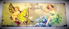Engel Lichtwesen Putten Amor Blechschild Schmetterling Reiter Antikdeko Vintage