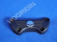 Harley handlebar handlebars riser top cover clamp skull fx fxr sportster softail