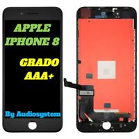 DISPLAY LCD APPLE IPHONE 8 TOUCH SCREEN RETINA +FRAME VETRO SCHERMO 8G