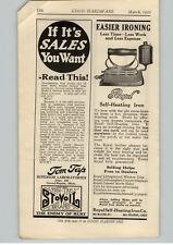 1922 PAPER AD Royal Self Heating Sad Iron Black Jack Stove Polish