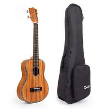 Laminated Zebra Wood Tenor Thin Body Ukulele Ukelele Hawaii Guitar W/Bag 26 Inch