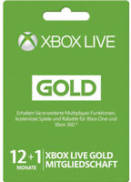 XBOX 360 LIVE 12+1 MONATE XBOX ONE Subscription GOLD MITGLIEDSCHAFT CODE KEY