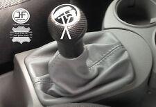 Schaltmanschette Grau Leder passen VW NEW BEETLE Schaltsack
