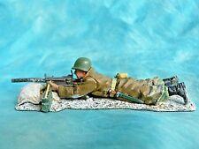 King & Country - Bastogne - BBA012 - Bataille des Ardennes WW2 - Mitrailleur US