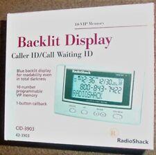New Radio Shack Advanced Caller Id/Call Waiting Backlit Tilting Display 4303903