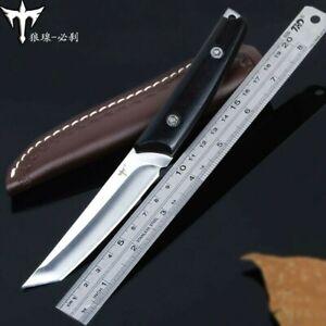 Jungle Knife Tanto Survival Hunting Full Tang Fixed Blade Mini Katana Tactical S