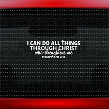 I Can Do All Things #2 Christian Car Decal Window Sticker Phil 4:13 (20 COLORS!)