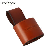 Tourbon Handcrafted Axe Holder Sheath 4mm Leather Belt Loop for Hatchet Camping