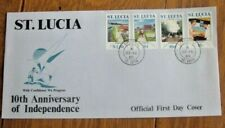 SAINT LUCIA  TENTH ANNIVERSARY OF INDEPENDENCE 1989 SET FDC