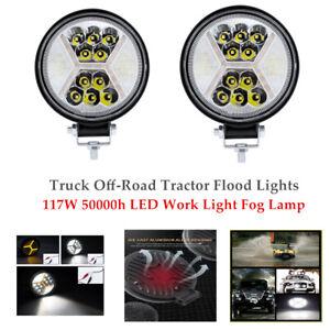 2PCS 117W LED Work Light Fog Lamp Truck Off-Road Tractor Flood Lights Universal