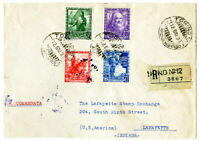Italy 1934 Registered Cover Scarce