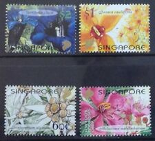 SINGAPORE 2001 JOINT ISSUE..ORCHIDS SET & MINISHEET SG1122/6 UNMOUNTED MINT