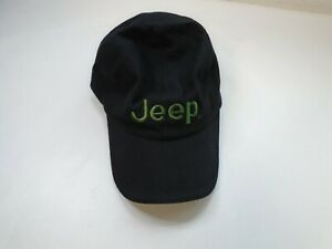 Genuine Jeep Cap Black with Green Logo 100% Cotton One Size