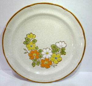 "Hearthside Stoneware Spring Garden Baroque 10 1/2"" Dinner Plate Vintage"