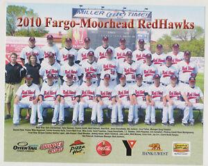 2010 Fargo Morehead Red Hawks Team Photo  Northern League