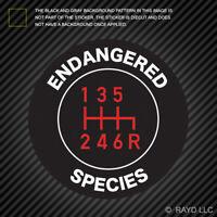 Stick Shift Endangered Species Sticker Die Cut manual transmission stick shift