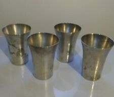 Antique Benedict Indestructo Sheffield Plate Nickel Silver Cups 1386