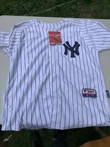 Authentic Majestic Size 52 New York Yankees #14 Home White Jersey New #145