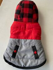 Small Dog Red Plaid Hooded Winter Coat by ELLEN DEGENERES Apparel Dress