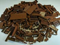 Lego Bulk Lot 1 POUND of Brown Bricks Plates and Parts